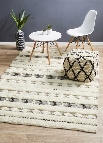 Moroccan Tribal Inspired Wedding Rug Link Ivory
