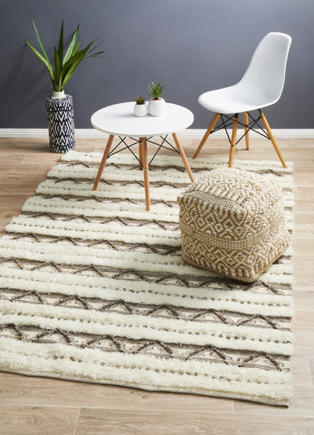Moroccan Tribal Inspired Wedding Rug Interweave Ivory