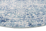 Muse Blue Transitional Round Rug