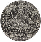 Scape Charcoal Transitional Round Rug