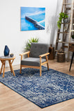Contrast Navy Transitional Rug