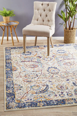 Peacock Ivory Transitional Rug
