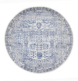 Frost Blue Transitional Round Rug