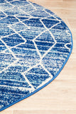 Culture Blue Transitional Round Rug