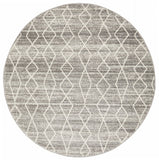Remy Silver Transitional Round Rug