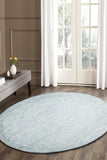 Depth Blue Transitional Round Rug