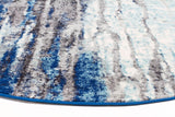 Transpose Blue Transitional Round Rug