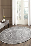 Stone Grey Transitional Round Rug