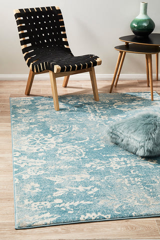 Skyline Blue Transitional Rug