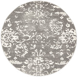 Stream Grey Transitional Round Rug