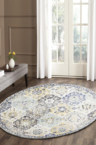 Poppy Multi Transitional Round Rug