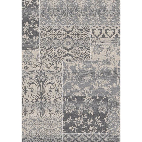 Abstract Evoke Rug | Silver | 160x230cm - Lost Design Society