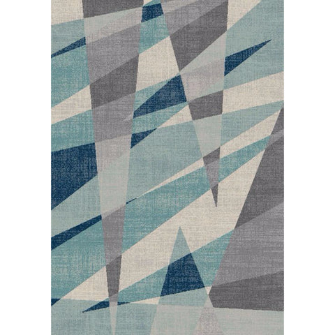 Abstract Evoke Rug | Blue Grey | 160x230cm - Lost Design Society