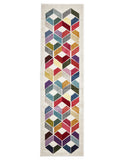 Digital Modern Multi Coloured Rug - Lost Design Society