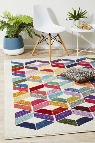 Digital Modern Multi Coloured Rug