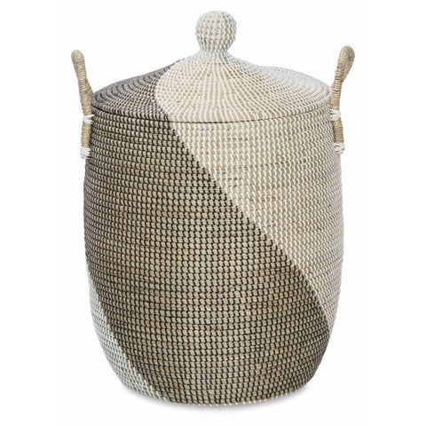 Traditional Vietnam Seagrass Basket with Swirl - Lost Design Society
