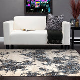 Rumi Transitional Rug Ivory Blue