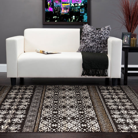 Nine Bridge Rug Brown