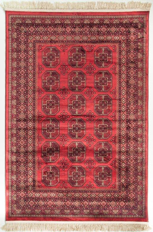 Crown Traditional Viscose Rug Red - Lost Design Society