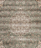 Elegance Traditional Viscose Rug Green