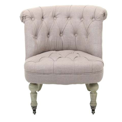 Beige Wing Back Feature Chair - Lost Design Society