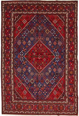 High Quality Wool Red & Multi Mehmeh Persian Rug