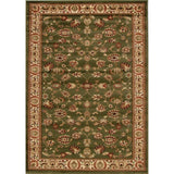 Traditional Floral Design Rug Green