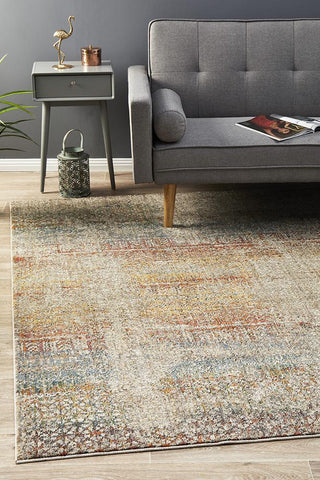 Fluid Rainbows Modern Multi Abrash Rug
