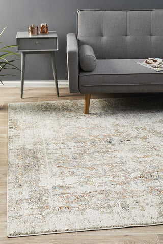 Fluid Dawn Modern Grey Abrash Rug