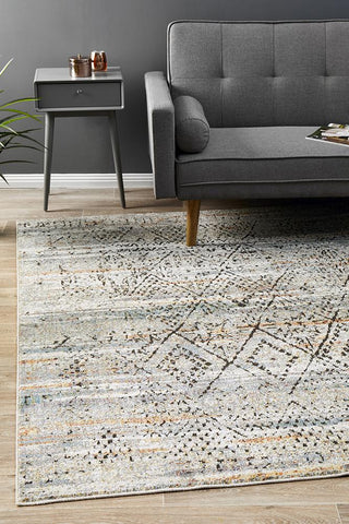 Fluid Mornings Modern Grey Abrash Rug