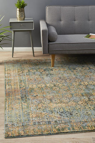 Fluid Daylight Modern Blue Abrash Rug