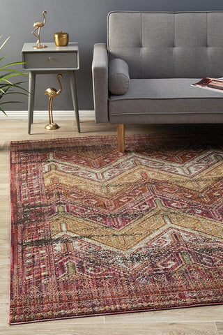 Fluid Sunrise Modern Red Abrash Rug