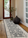 Chobi Design Rug Navy Grey Bone - Lost Design Society