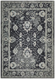 Nain Persian Design Rug Navy Blue Grey
