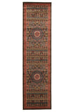 Antique Heriz Design Rug Brown Red Blue - Lost Design Society