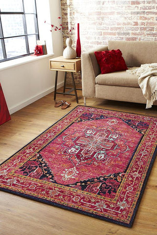 Vibrancy Classic TransitionalPink Rug