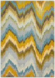 Vibrancy Ikat Blue Rug
