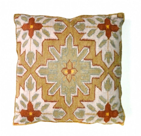 KILIM MOTIF BROWN CUSHION | 60x60cm - Lost Design Society