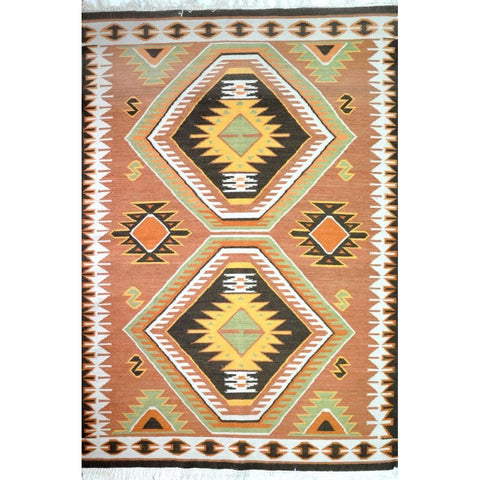 TRIBAL KILIM RUG WITH TASSELS | YILDIZ STAR MOTIF | 160x260cm