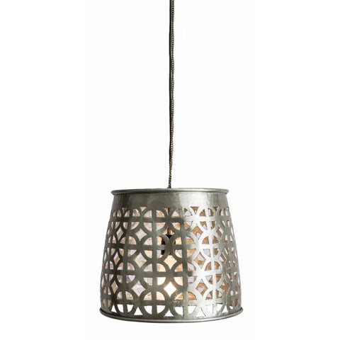 Aluminium Hanging Lamp Round Cutouts - Lost Design Society