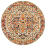 Estate Shamba Rust Round Transitional Rug