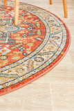 Estate Terracotta Round Transitional Rug
