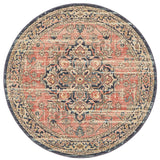 Estate Brick Round Transitional Rug