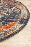 Estate Shamba Navy Round Transitional Rug