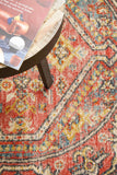Estate Crimson Round Transitional Rug