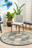 Estate Tope Navy Round Transitional Rug
