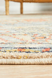 Estate Sky Blue Round Transitional Rug