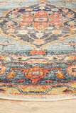 Estate Tope Rust Round Transitional Rug