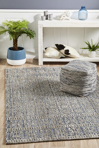 Antalya Navy Grey Transitional Rug