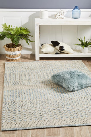 Demre Blue Transitional Rug